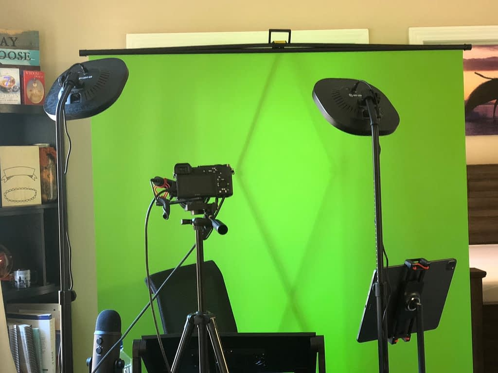 It took me a while to figure out the perfect youtube studio for me. I upgraded to new equipment as I built my studio. Currently, mine is a 'pop-up' youtube studio in my dining room. Everything takes down and sets up in minutes. And because the pieces are compact, they store easily as well.