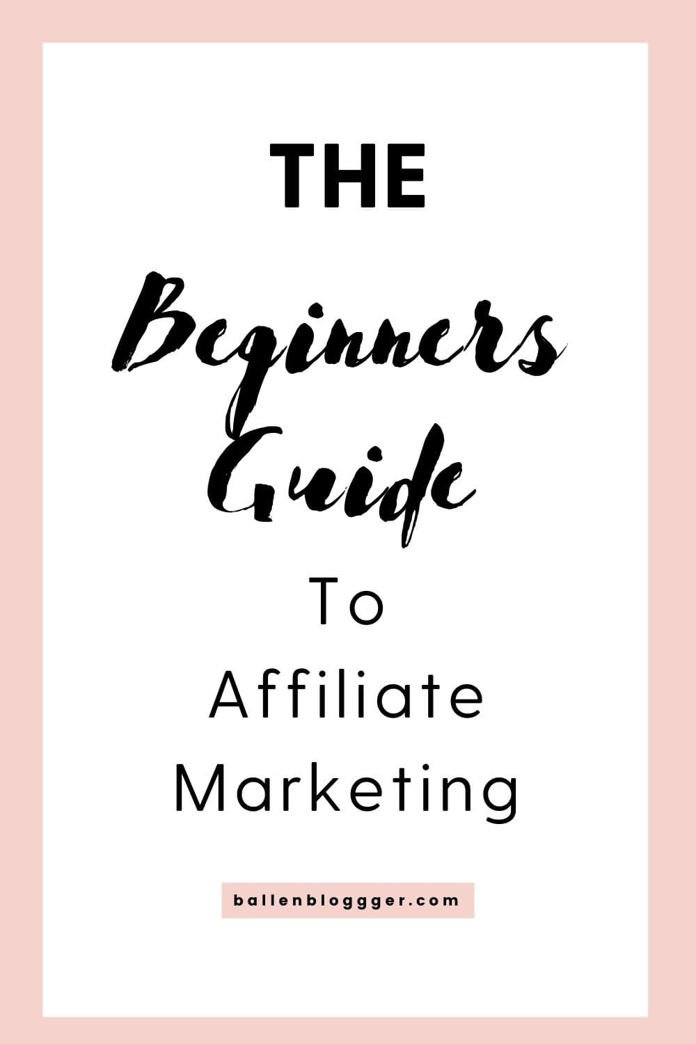 Learn affiliate marketing with the beginners guide to affiliate marketing.
