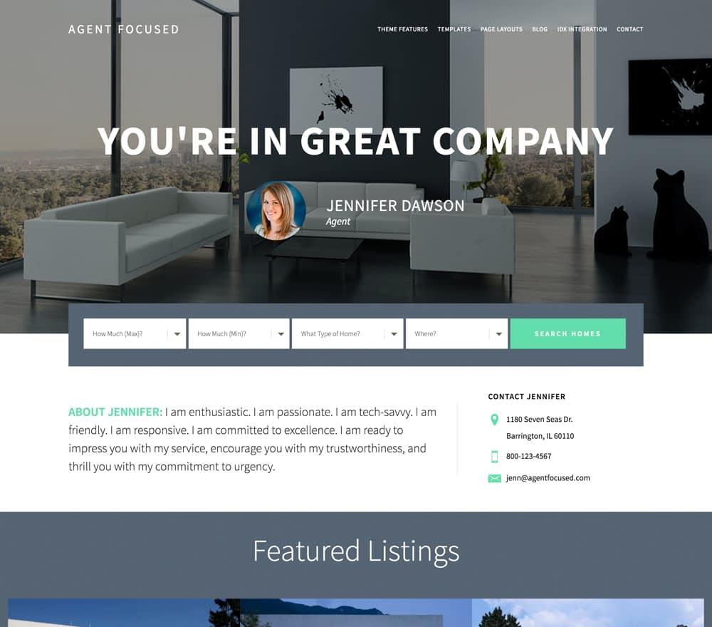 If you've been searching for a theme that's perfect for showing off your personality, your community, and your real estate listings, you've found it. Agent Focused Pro is a premium WordPress theme designed with both real estate professionals and their clients in mind. Includes the Genesis Framework and the Agent Focused Pro Theme.