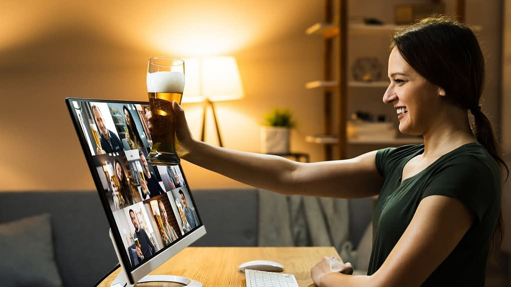 Schedule a time after work to get together with everyone over Zoom with a beverage of their choice. The only rule should be that there's no discussion of work – this is time to get to know each other!