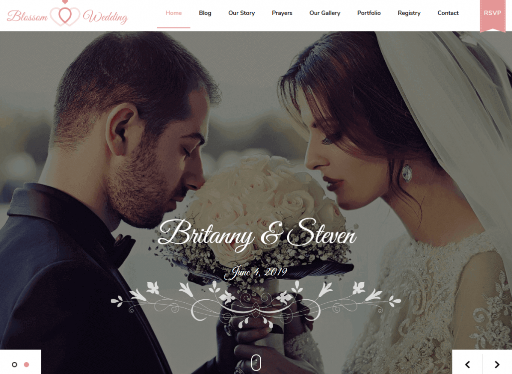 Create a WordPress website that works like a digital wedding invitation for your special day. This beautiful Wedding Pro theme for WordPress is mobile-friendly, mobile responsive, and is elegantly crafted by Blossom Themes.