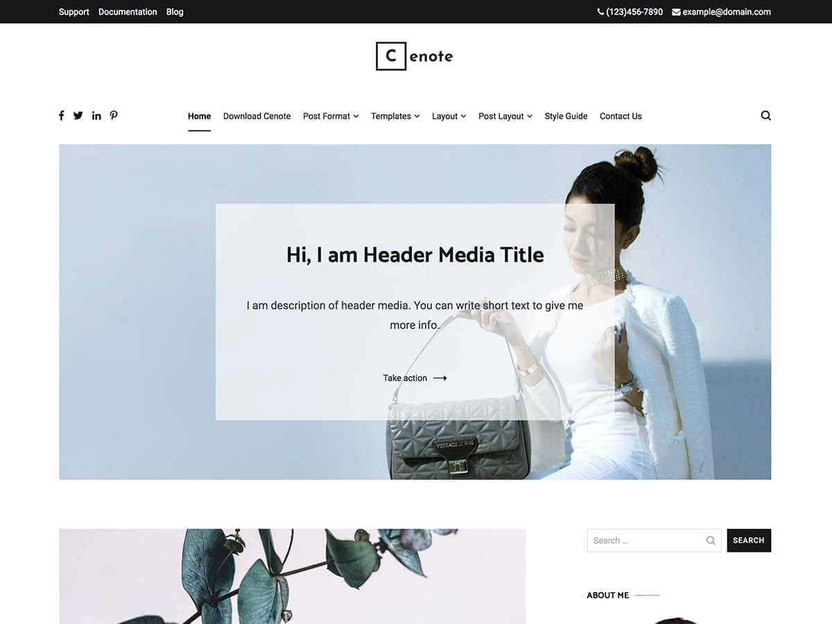 Cenote is known for its minimalist design; however, it does have quite a few features. Ideal for blog posts, it has a clean layout that can also be used to monetize various features.