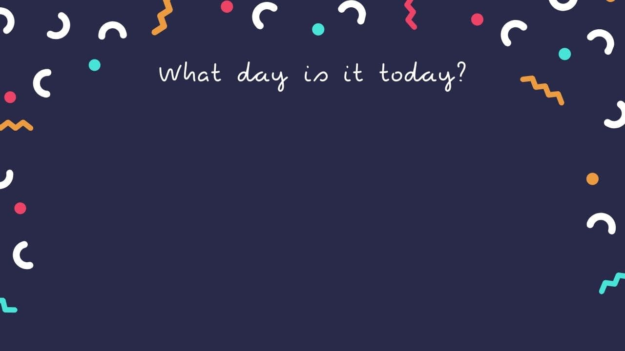 Dark Blue and Colorful Confetti Fun & Shareable Zoom Background