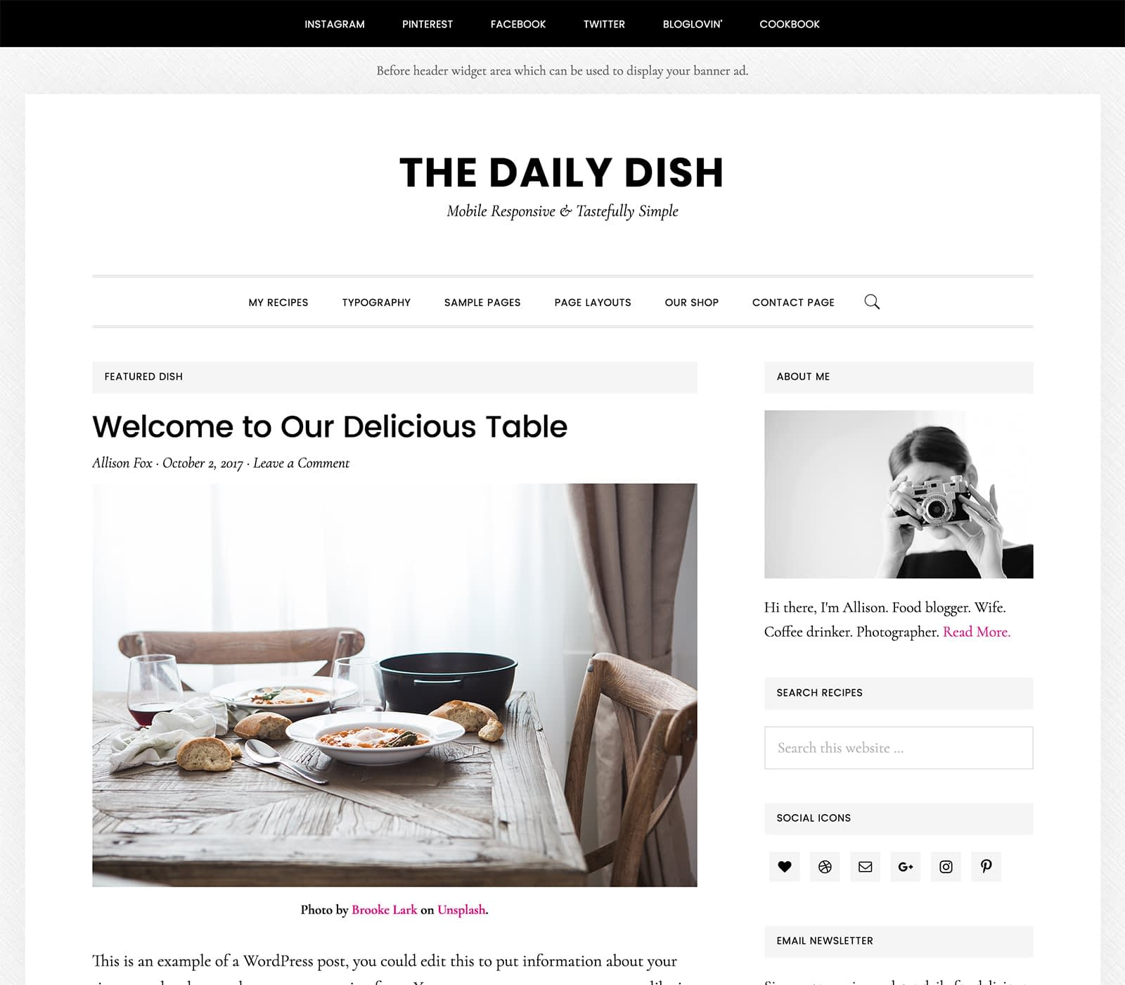 Daily Dish delivers your content as if it's the most amazing dish at a 4-star restaurant. Your website is the main course and Dialy Dish Pro serves your content in the form of video, images, and words showcasing the most important.