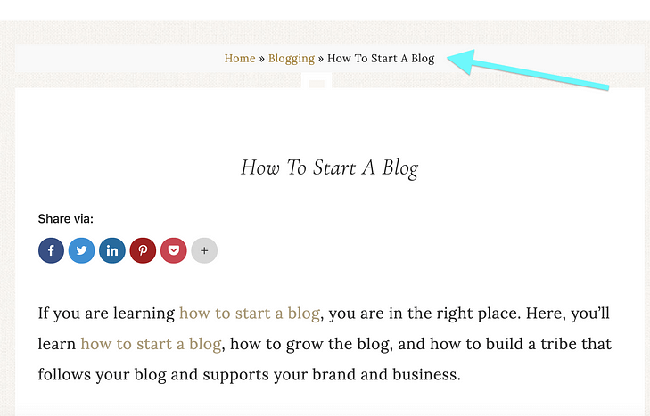 You can improve your website's navigation, however, by using breadcrumb navigation.