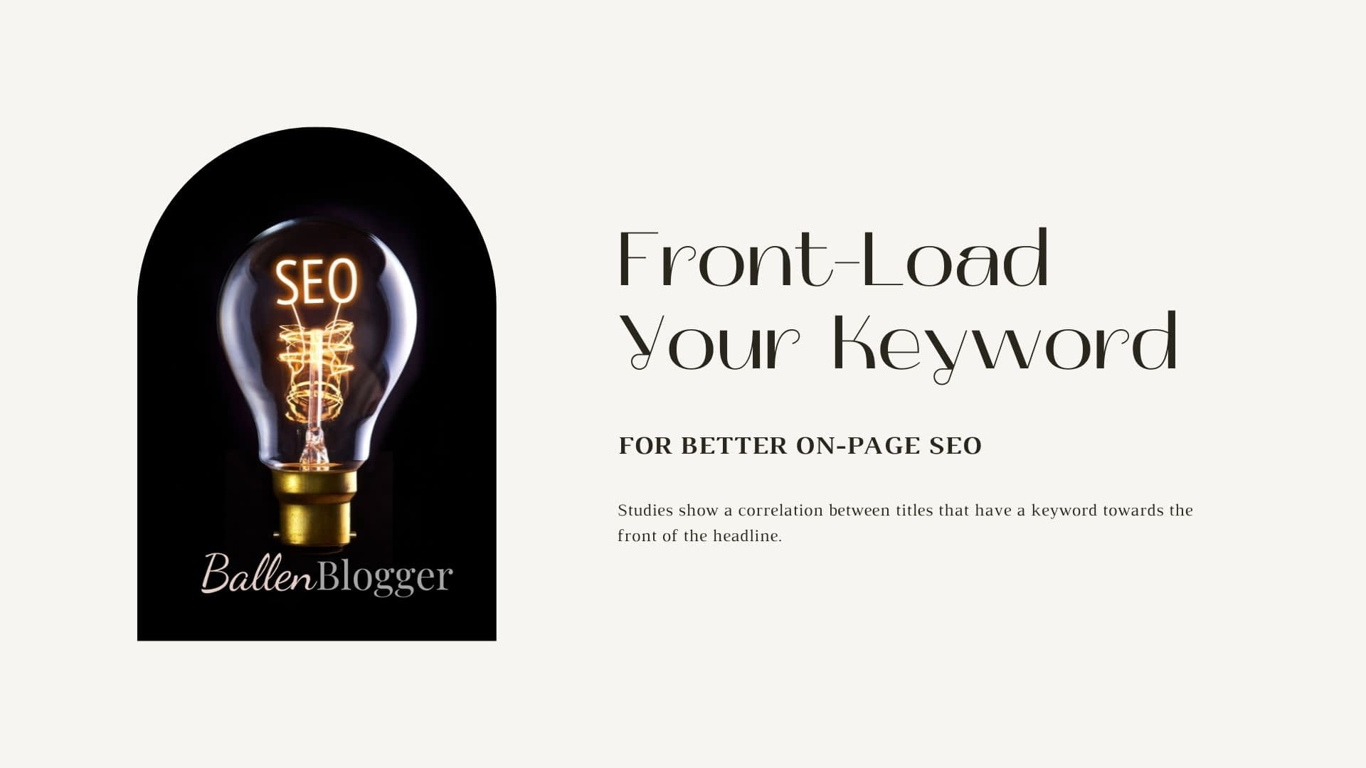 SEO bloggers will often agree that keyword positioning in your headline can make a difference in ranking.