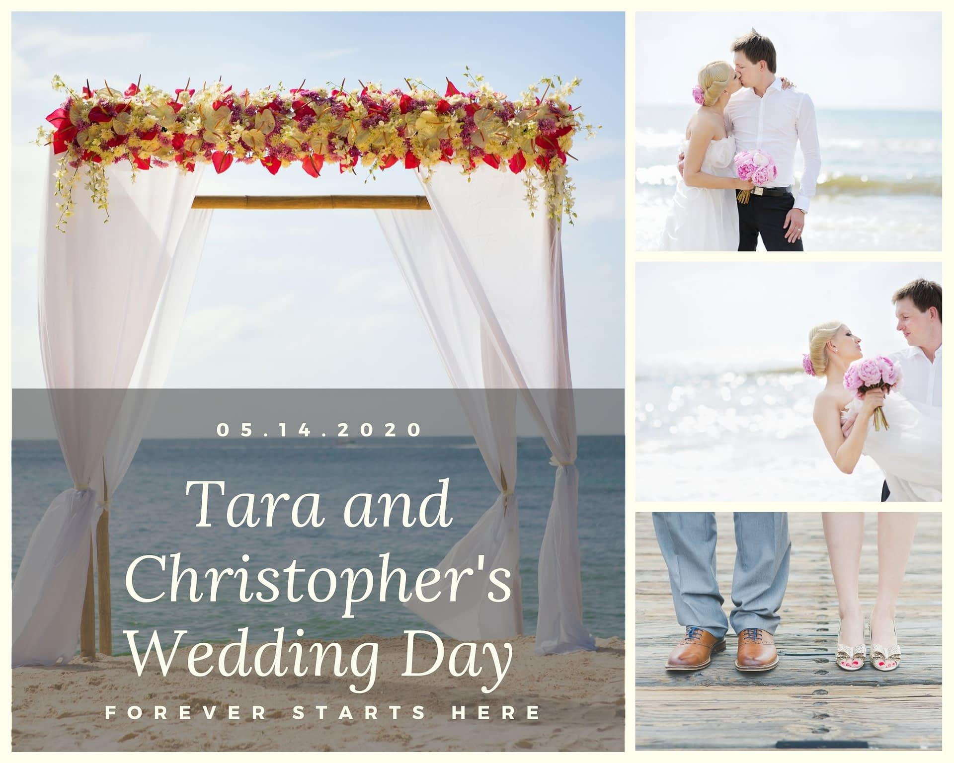 Wedding Photo Collages from Canva