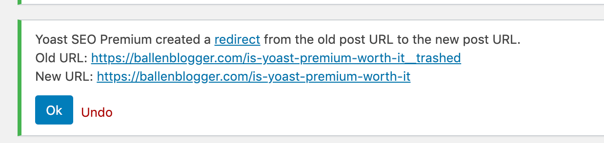 """When you are considering if Yoast SEO Premium is worth it for you, consider the """"protection"""" of the redirect manager."""
