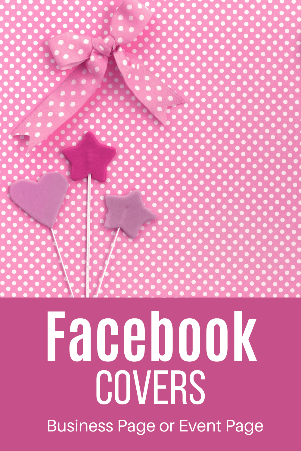 Pink like a baby shower and the words facebook covers