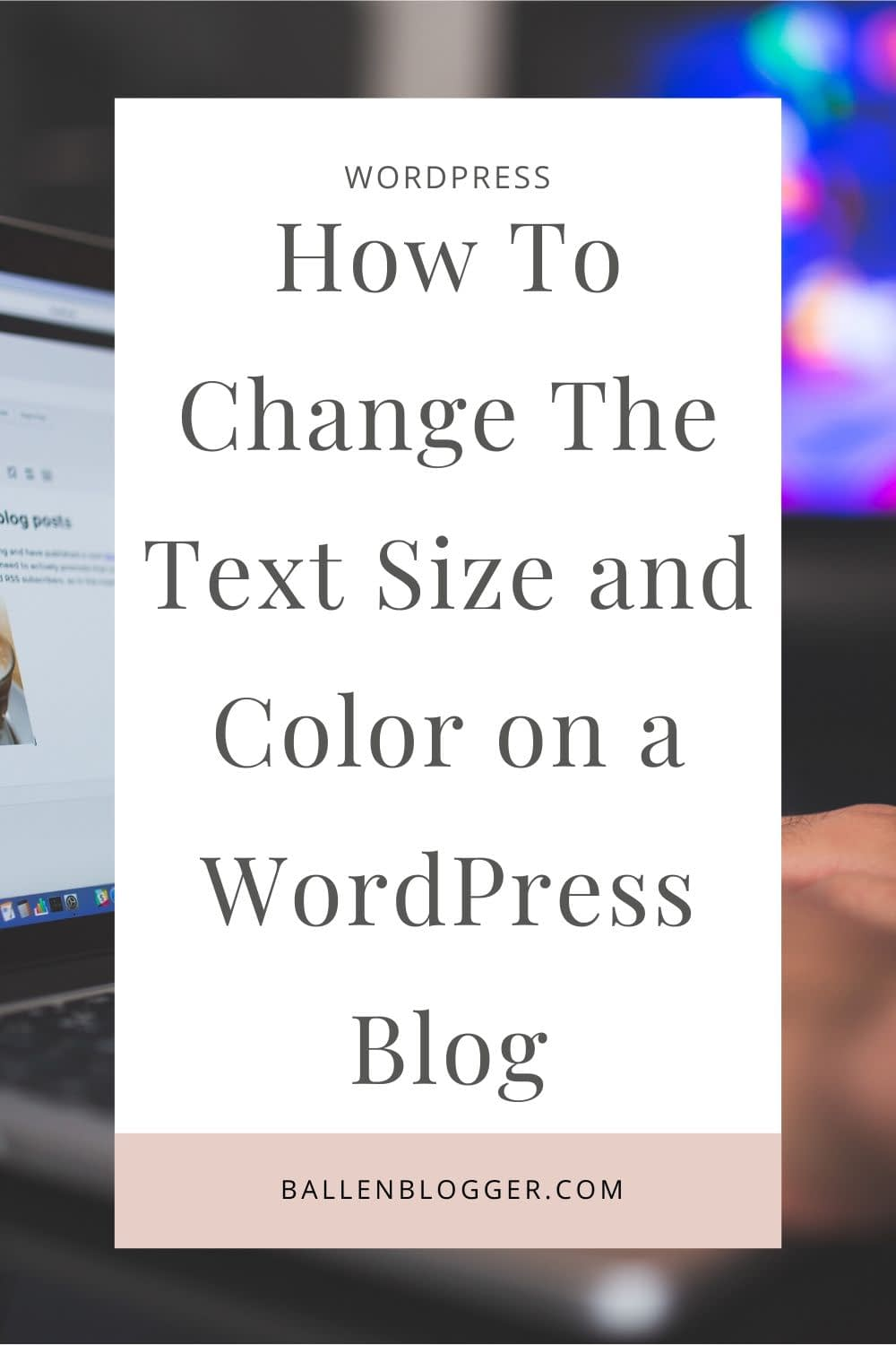 Many bloggers ask how to change the text size and text color on a WordPress Blog or Website. This article will show you how to change text size and color right within the blog post. I use WordPress Gutenberg and Studiopress themes.