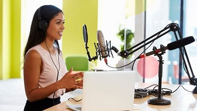 The Podcast intro is essential to setting the tone for your Podcast. The Podcast intro will often include music, someone introducing the show, it's topics, and host. Often, there is a bumper, or short clip, from the show to entice the listener to keep listening.