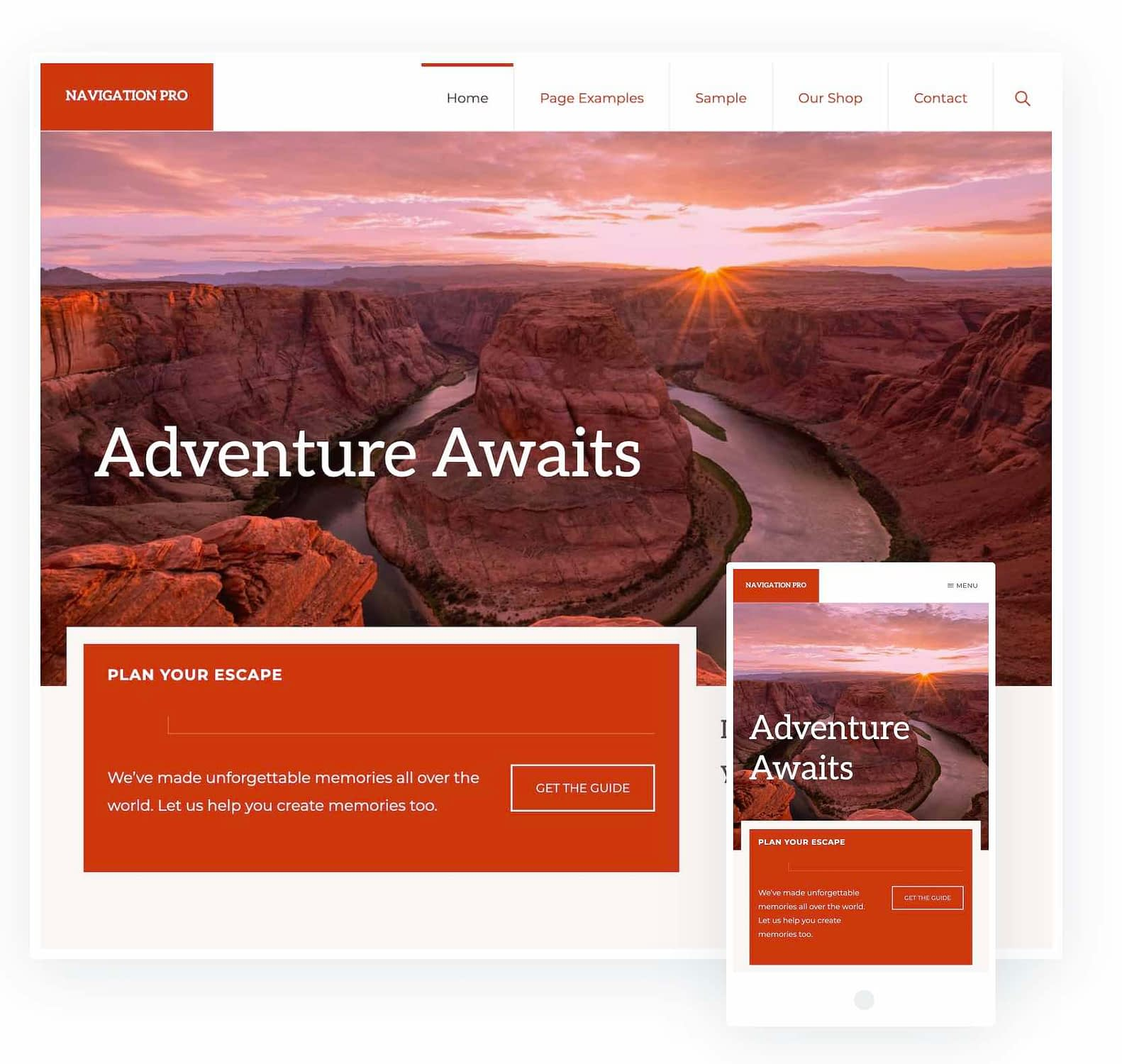 The Navigation Pro WordPress Theme is stunning and perfectly designed for the travel blogger.