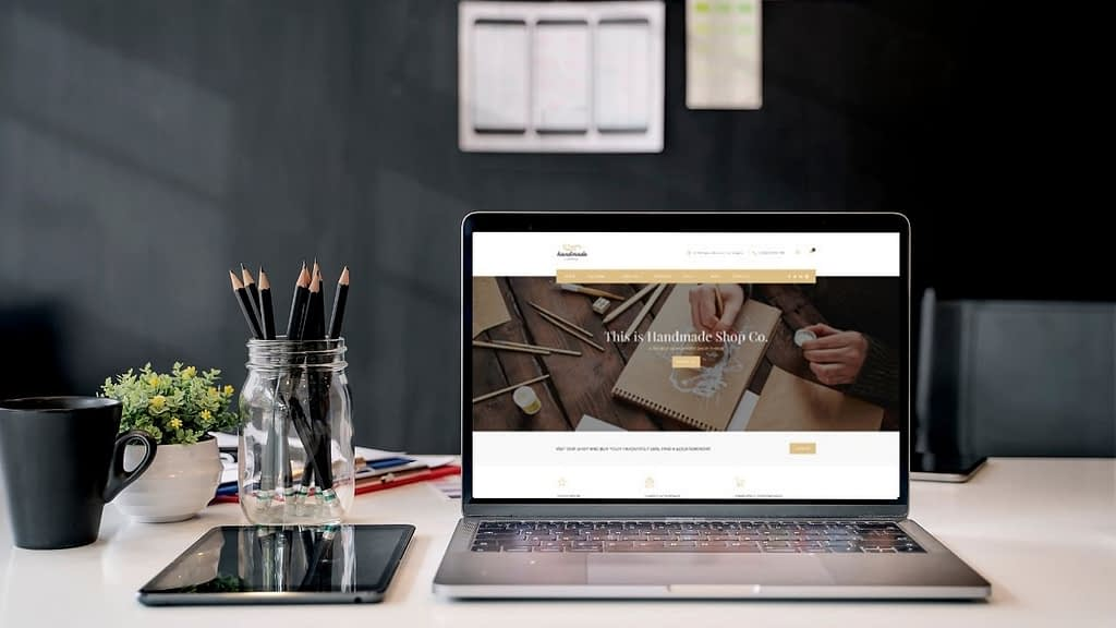 Handmade is a Themeforest theme designed for WooCommerce (which is built-in.) Less of a corporate design, this is an excellent theme for ETSY sellers and the like – clean, yet rustic.