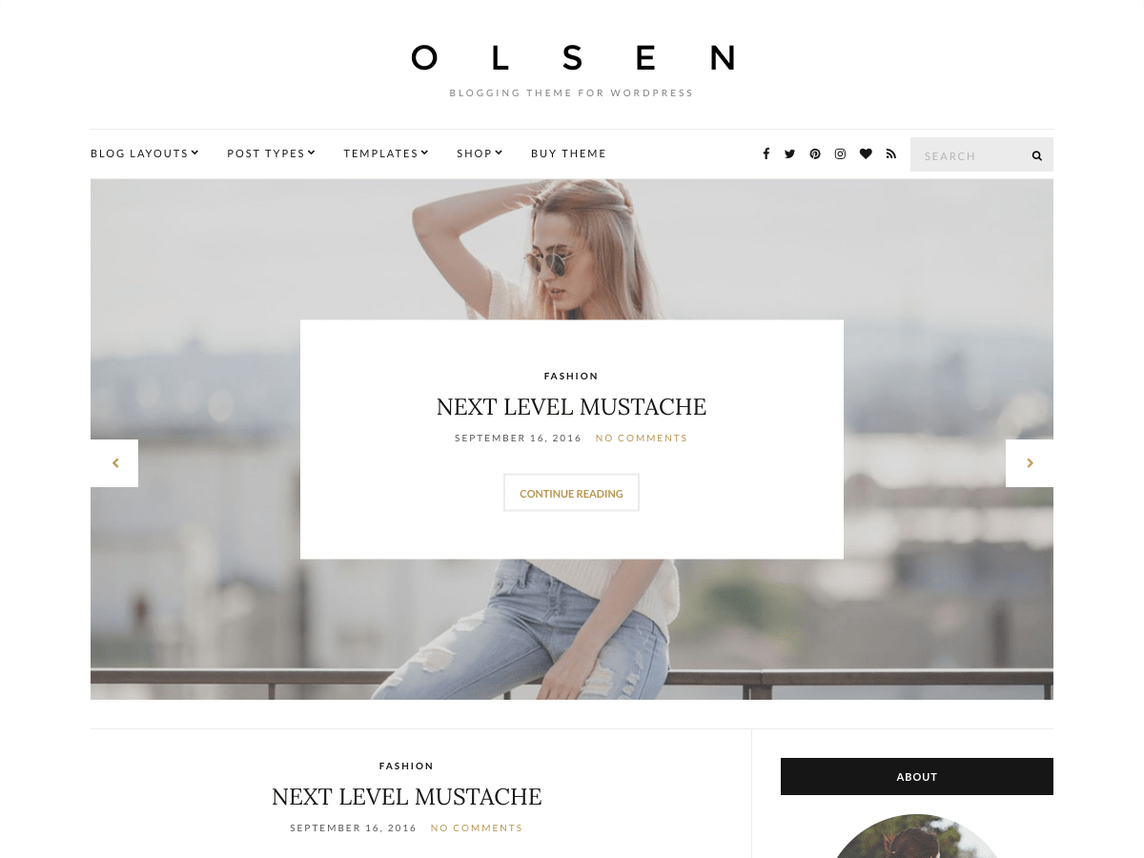 Olsen Light is a beautiful theme for those who are looking to give off an air of professionalism in the business world.