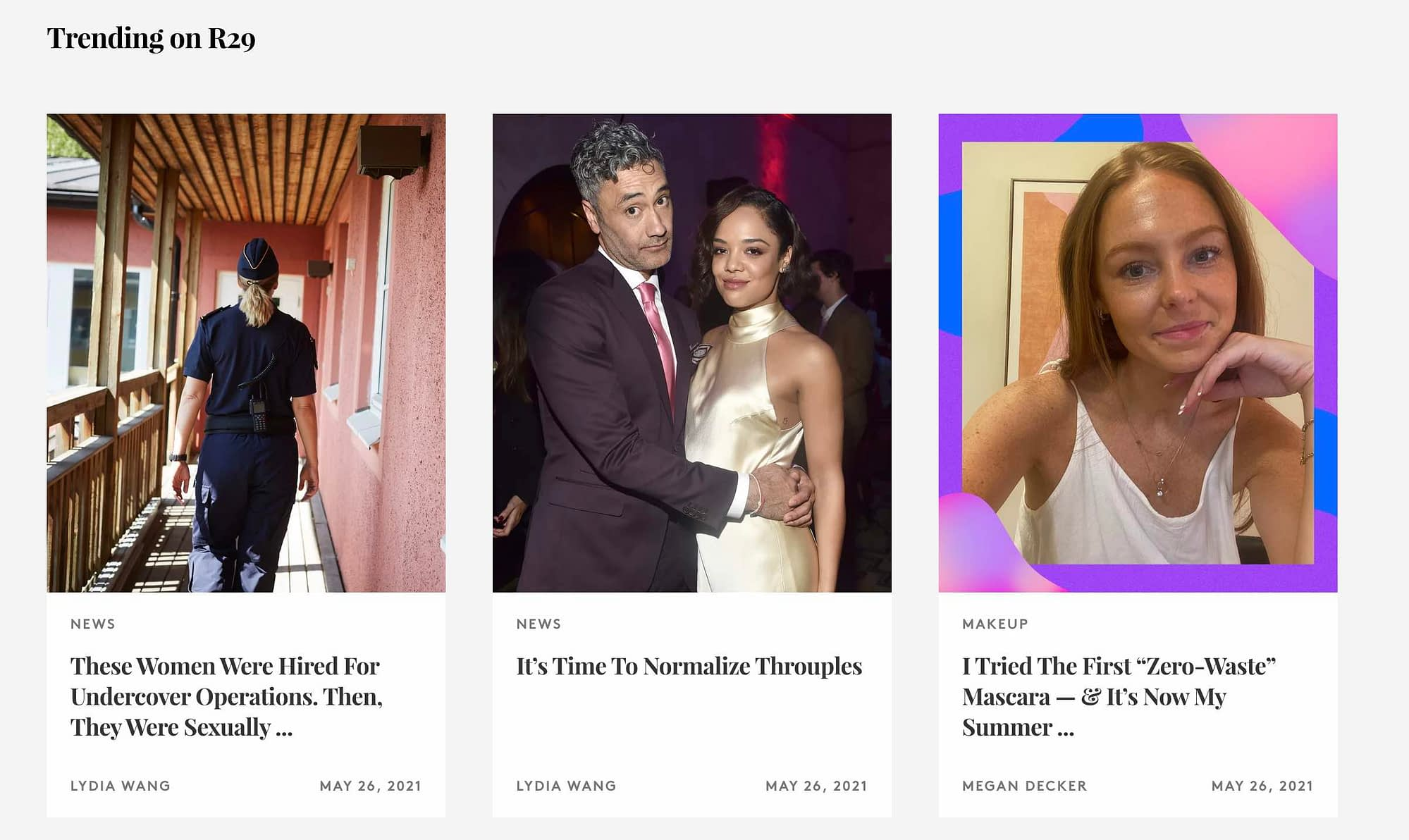 """Refinery29: Refinery29 is mostly known as an all-encompassing media company, but it's also an informative lifestyle blog tinged with pop-culture influence. Sample post: """"Wearing a Bridgerton-Inspired Corset."""""""