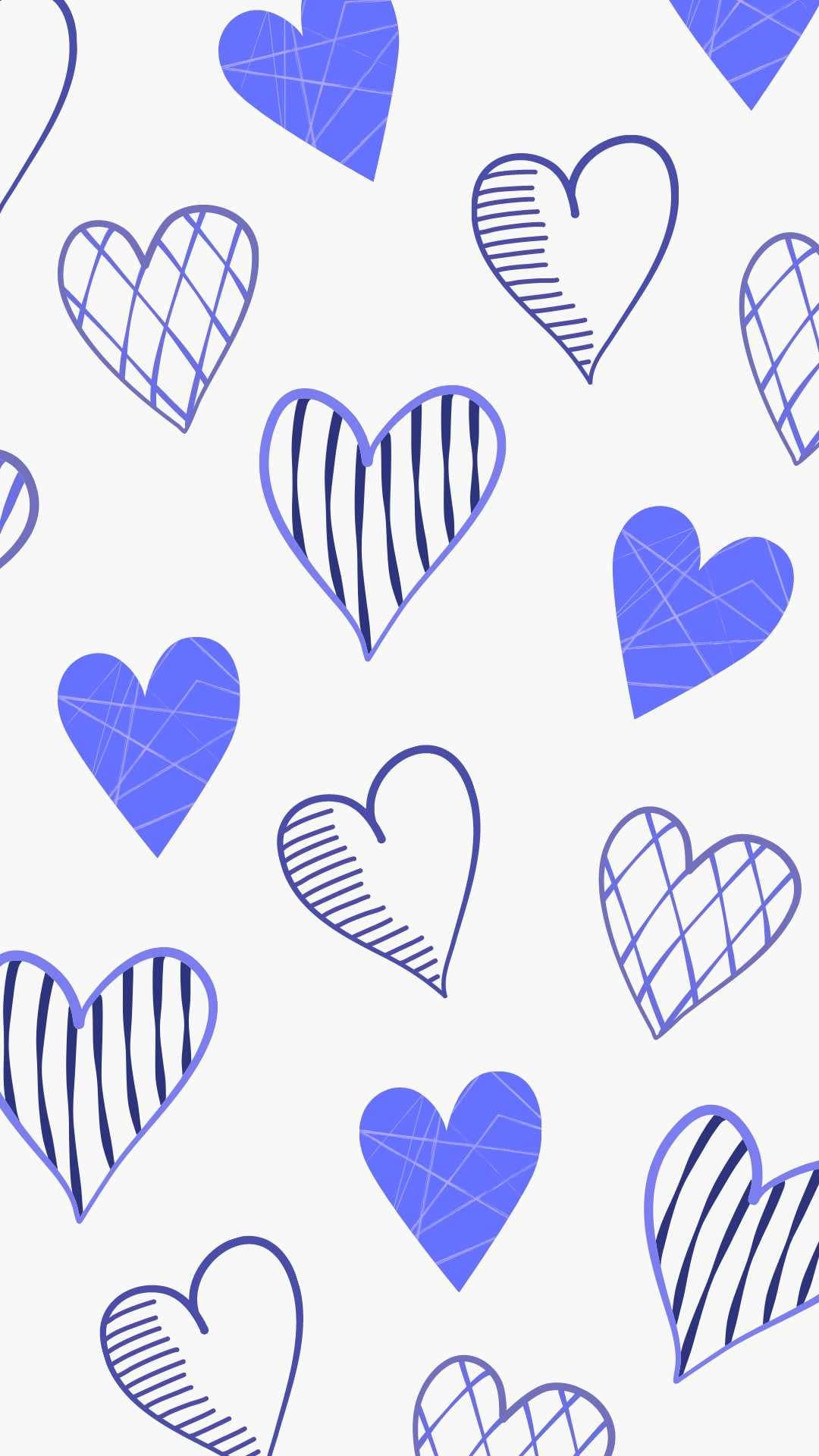 Blue Hearts iphone Wallpaper for Valentines Day