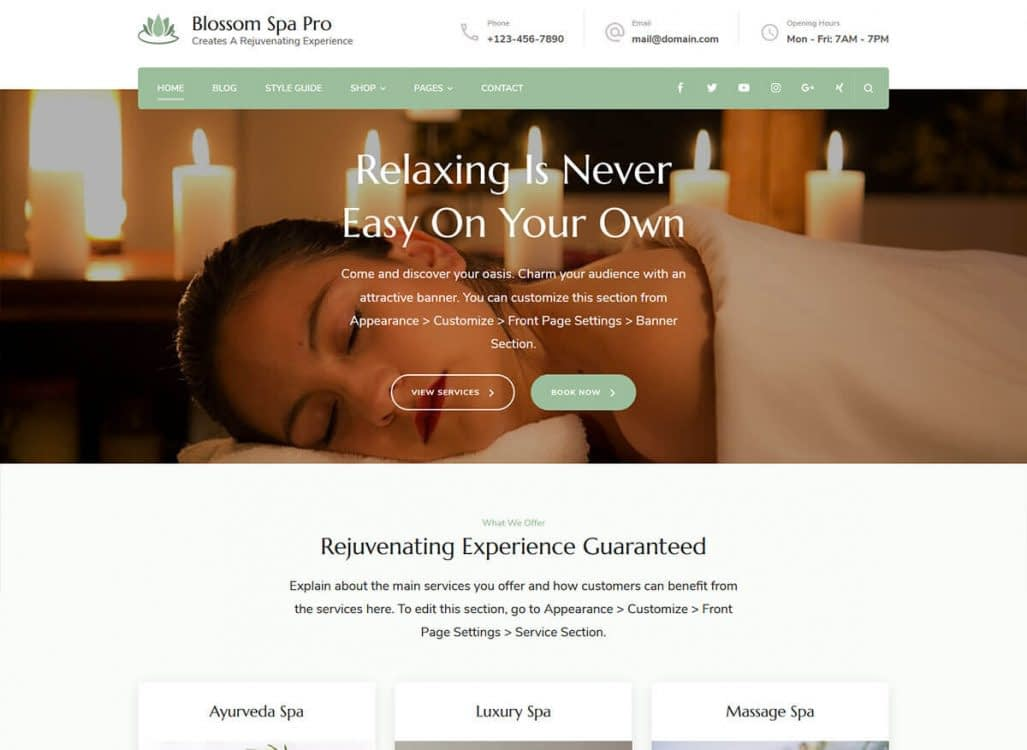 Bring in more customers to your spa, salon, or wellness center. Blossom Spa Pro provides a quality user experience by helping you create an optimized website that is impressive and easy to use.