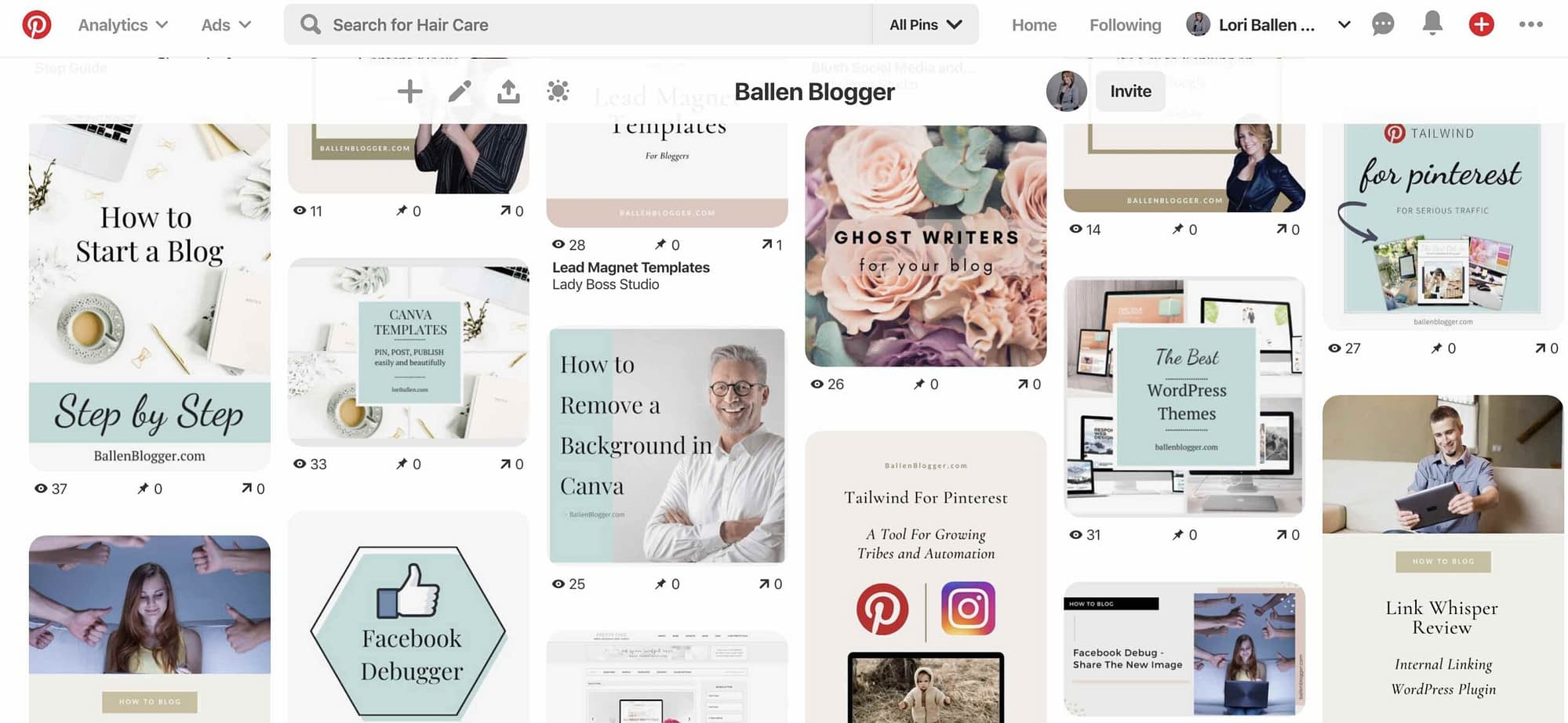 Because of how Pinterest's algorithm works, boards should be very specific. It's better to create more boards that are niche-focused.  A starter account might have 10 boards, while you can have up to 200 in a single account. That does include group boards and secret boards as well.
