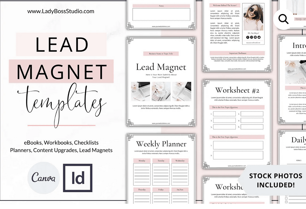 Blush Lead Magnet Templates | Canva & InDesign