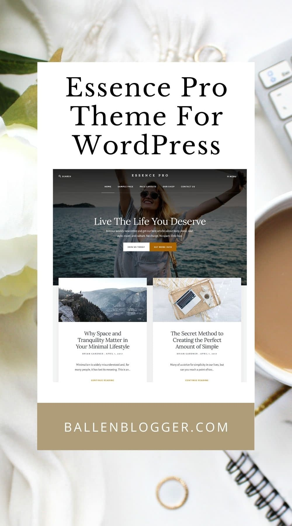 This tutorial will show you how to install and set up the Essence Pro Theme on WordPress.