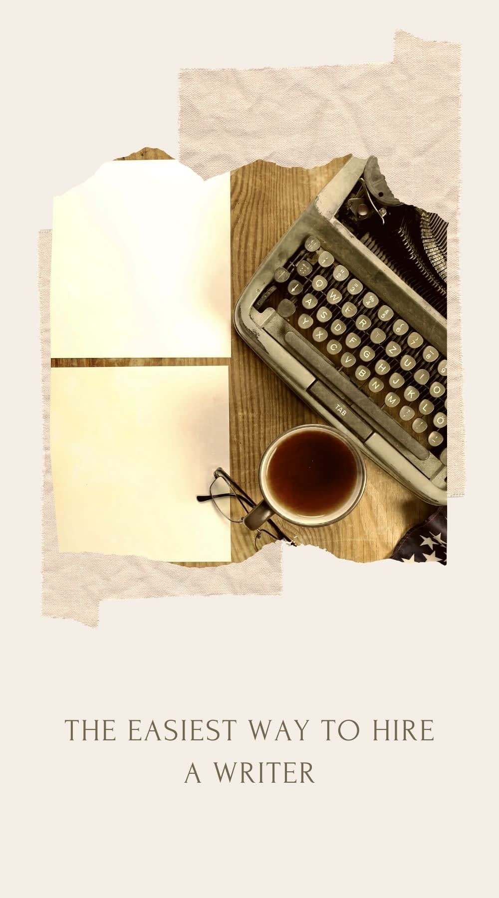 Old typerwriter and a cup of coffe