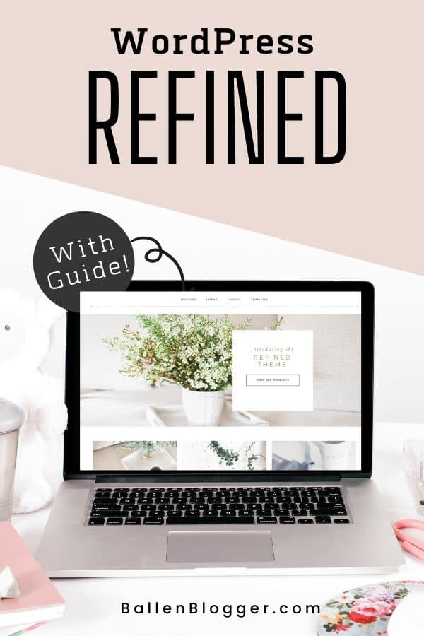 The Refined Pro Theme is one of my favorites as far as feminine blog design goes.  I fell in love with it and decided to put a tutorial together to teach my blogging clients how to build a Lifestyle blog on WordPress using the Refined Theme.