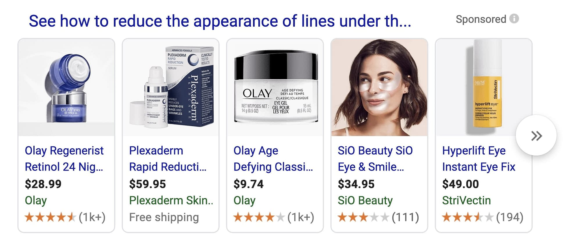 However, while all of those Google searches may not return a long-form article, if someone is searching how to reduce the appearance of fine lines under aging eyes, there is a good chance a long-form article will be.