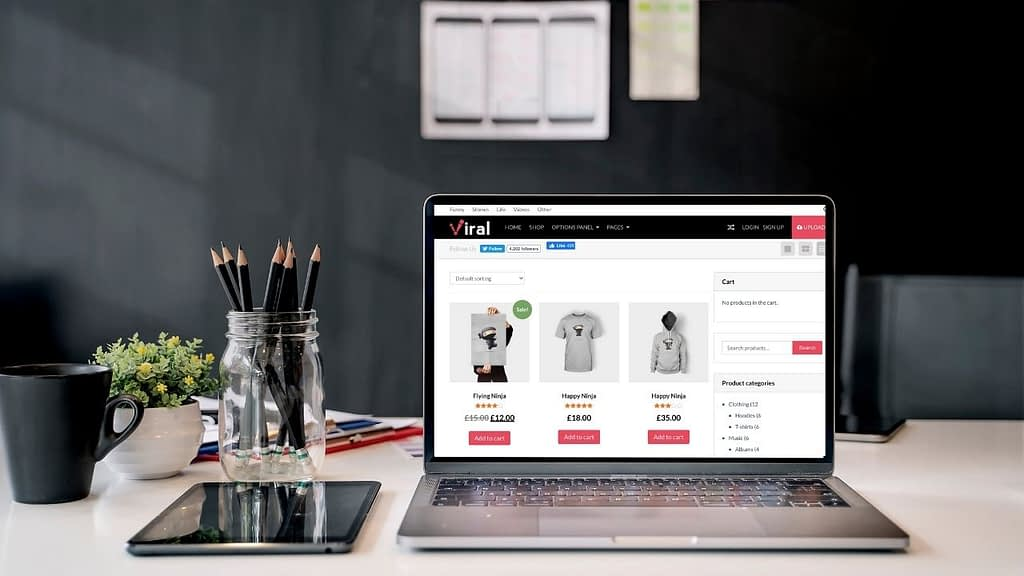 VIRAL is a responsive WooCommerce-compatible, SEO ready, Adsense optimized theme from MyThemeShop.com. Ideal for social media marketers, this theme is built more like a viral video/viral post theme with the option of adding eCommerce.