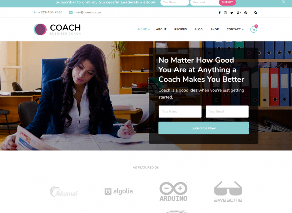 Blossom Coach Pro is the premium version of the Blossom Coach WordPress theme. This theme is ideal for coaches, therapists, authors, and speakers.
