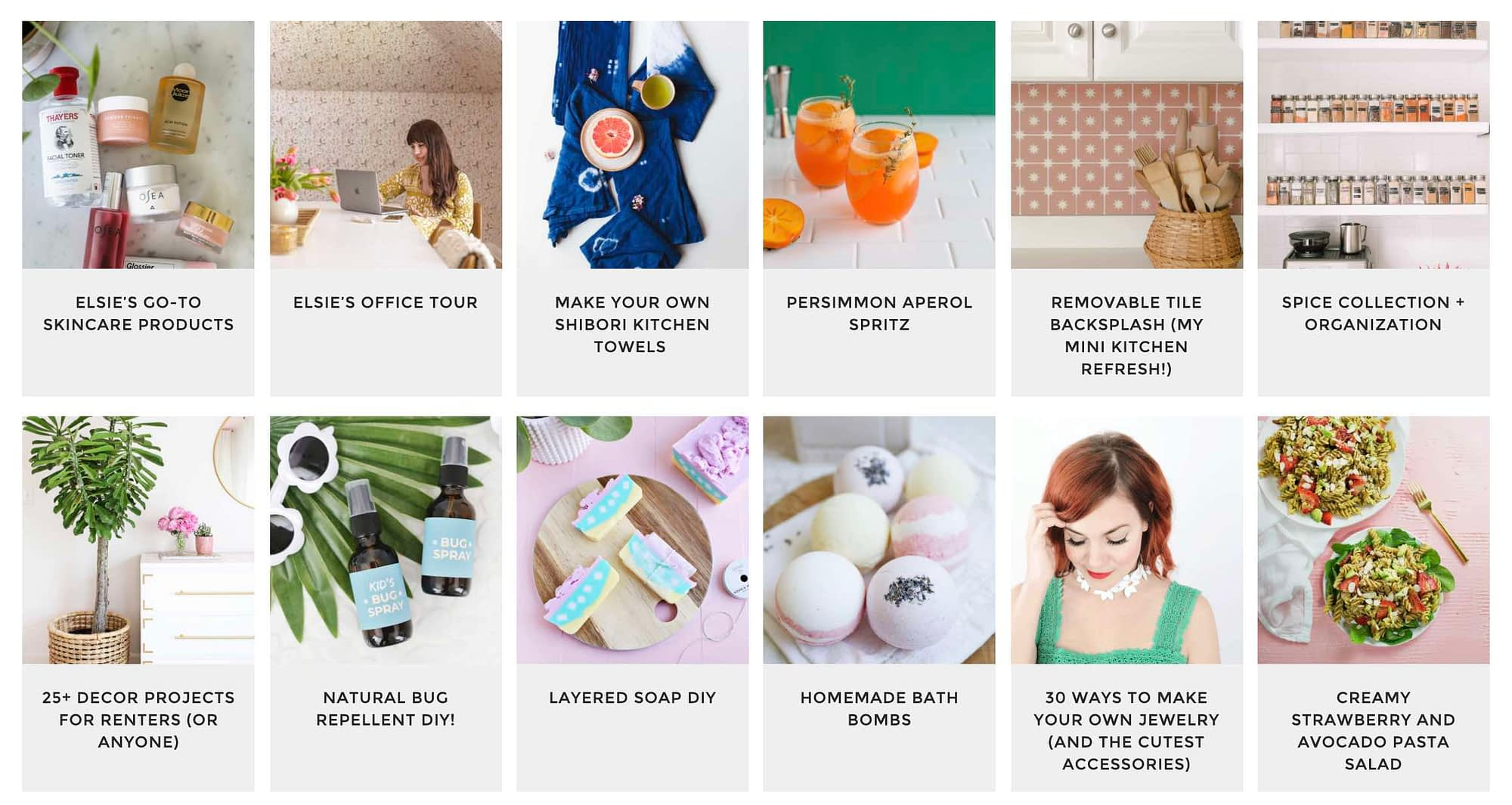 A Beautiful Mess: Sisters Elsie Larson and Emma Chapman run this blog covering a range of interesting tops, including crafts, décor, and general life advice. It's always fun, unexpected, and insightful.