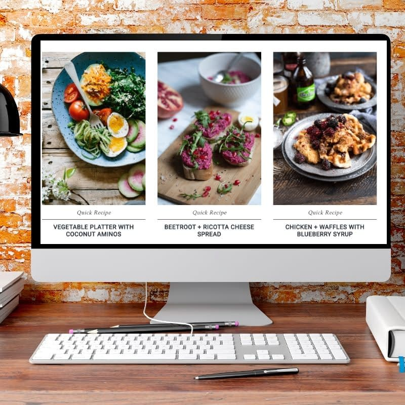 The 'Food Blogger' is a complete WordPress Website ready for you to get cooking! If you would like to build your own, we have tutorials on that as well. If you want to leave the techie stuff to us, we put the system together for you. We've got the perfect recipe.