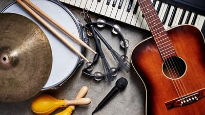 If you want to find an affiliate program that allows you to promote musical instruments, you would be interested in Sweetwater's affiliate program.