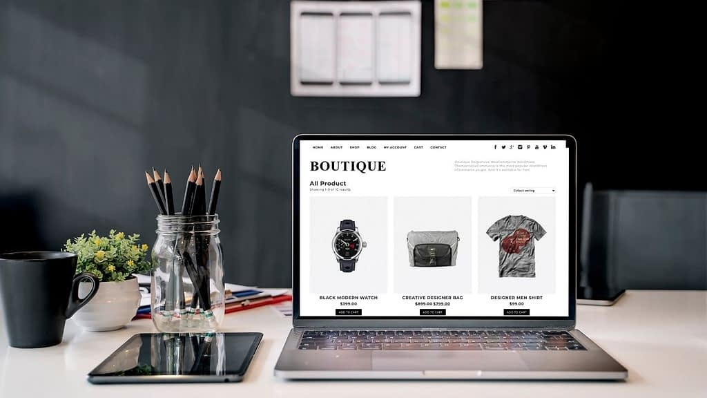 Boutique is available in a free version and a premium version that you can buy for $49. The free version of this theme has a minimalist design and layout that is well suited to boutique stores – hence the name.