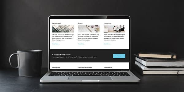 The Executive Pro Theme is child theme of the Genesis Framework for WordPress. It can be purchased from StudioPress or as a package from WP Engine with WordPress Hosting.