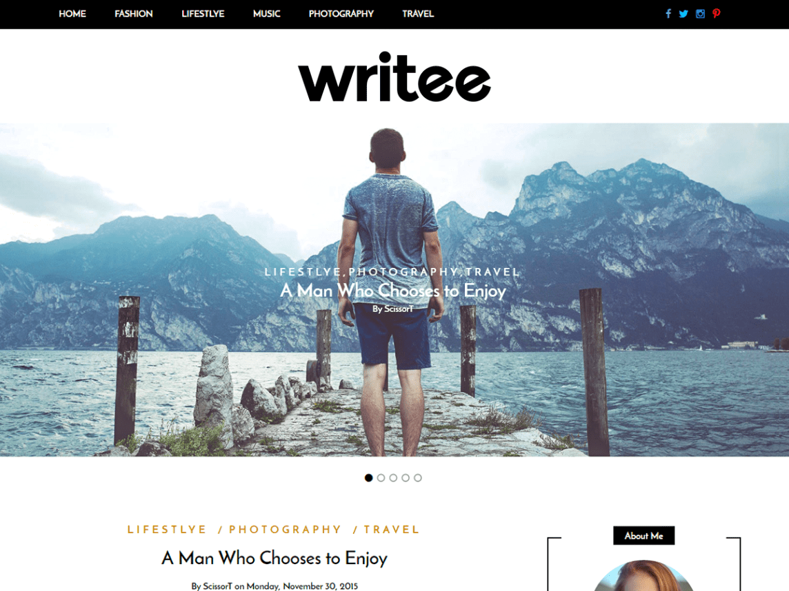 If you are looking for a theme designed for producing high-quality content, then Writee might be for you.