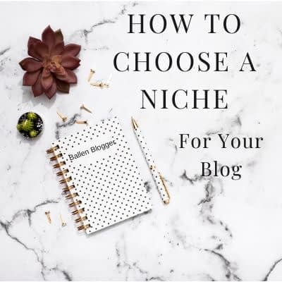 How to Chooose a Niche For Your Blog is shown for inspiration with blog items